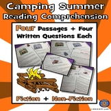 4 Summer Camping Reading Comprehension: Spring Paired Reading Fun