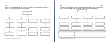4 Category Classification Chart Graphic Organizer