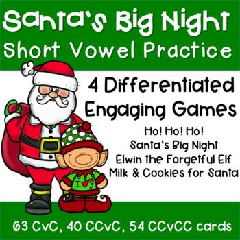 CvC  CCvC  CCvCC Christmas Literacy Games