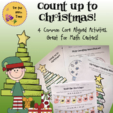 4 Christmas Themed Math Activities-Place Value, Skip Count