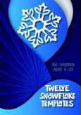 6 Christmas snowflake templates