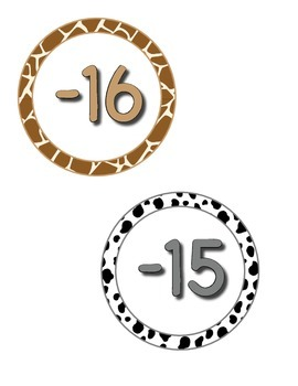 "4"" Circle Numbers - ZisforZebra - Editable"