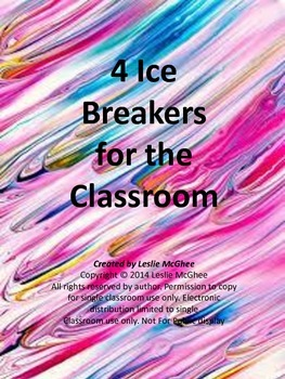 4 Classroom Ice Breakers