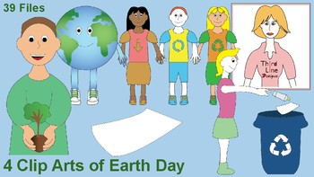 4 Clip Arts of Earth Day