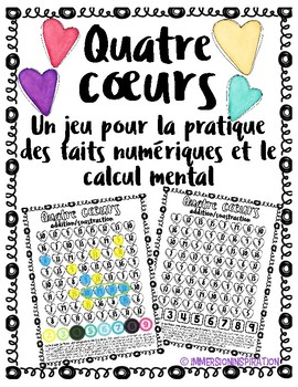 4 Coeurs - Fact Fluency Game in French