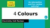 4 Colours: Grade 6 Electricity Unit Review