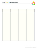 Four Column Chart- Graphic Organizer