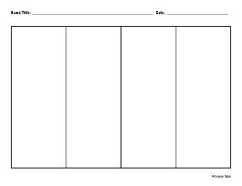 4-Column Organizer