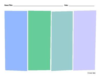 4-Column Organizer Color
