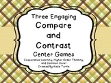 Compare and Contrast Common Core Center Games 4 Test Prep!