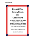 Context Clue Cards, Rules, and Gameboard Teacher Resources