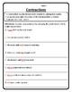 Contractions in Sentences Worksheet Contractions Worksheet Contraction #4