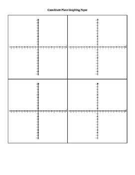 4 Coordinate Planes Graph Paper