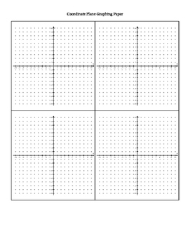 4 Coordinate Planes Graph Paper - with supporting dots