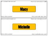 4 Corner Name Tags