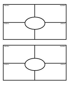 4 Corner Vocab Template