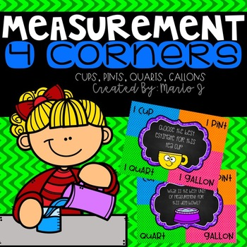 4 Corners Capacity-- Cups, Pints, Quarts and Gallons