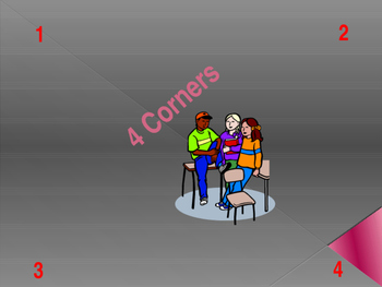 4 Corners For the First Day of School PPT