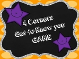 Get to Know You- 4 Corners Game