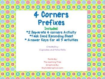 4 Corners Inflected Endings -ed -ing -er -est
