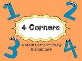 4 Corners Math Game FREEBIE
