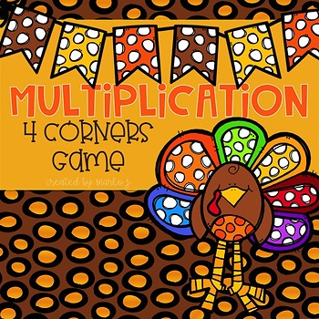 4 Corners Multiplication Thanksgiving Themed