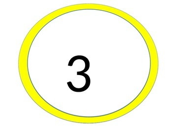 4 Corners Number Posters