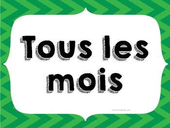 FRENCH 4 Corners Posters (4 options! 23 posters!)