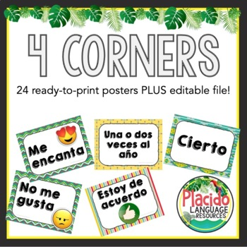 4 Corners Posters (4 options! 24 posters!)