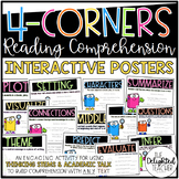 4-Corners Reading Comprehension Interactive Posters {Acade