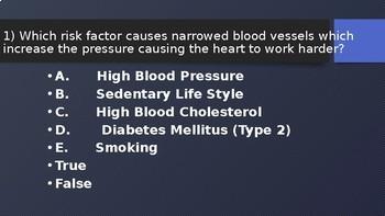 4 Corners Review Game: Heart Disease Risk Factors