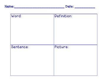 4 Corners Vocabulary