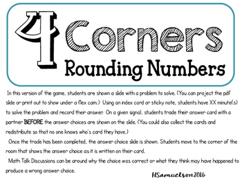 4 Corners for Rounding 4.NBT.3
