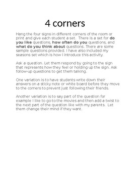 4 Corners in French