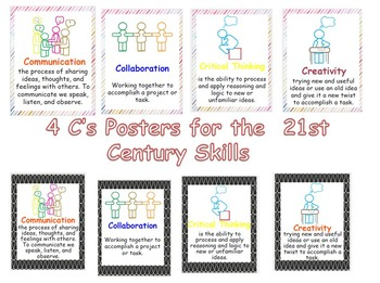 4 C's for the  21st Century Skills  -  Posters