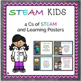 STEAM Kids 4 Cs of STEAM and Learning Posters