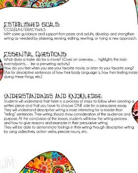 4 Day Writer's Workshop