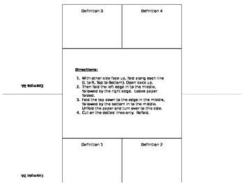 4 Definition, 3-level Foldable