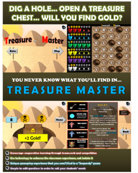 4 Dig Addition NO REGROUP Cooperative Learning Game | Treasure Master – EDITABLE