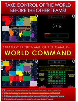 4 Dig Addition REGROUPING Cooperative Learning Game   World Command – EDITABLE