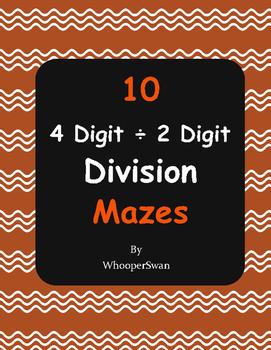 4-Digit ÷ 2-Digit Division Maze