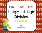 4-Digit by 2-Digit Division Tic-Tac-Toe