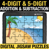 4 Digit & 5 Digit Addition & Subtraction Digital Jigsaw Pu