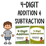 4 Digit Addition And Subtraction Worksheets With Without Regrouping Mixed