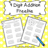 4 Digit Addition Freebie