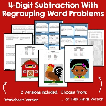 4-Digit Addition & Subtraction With Regrouping