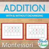 Montessori: 4 Digit Addition Task Cards