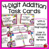4-Digit Addition Task Cards - Unicorn Theme