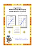 4 Digit Addition With Grouping / Carrying & Lines For Place Value