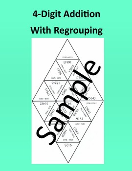 4 - Digit Addition With Regrouping – Math puzzle
